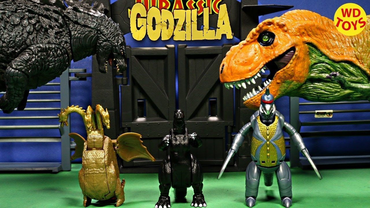 New 3 Godzilla Transforming Eggs Vs TRex Jurassic Park