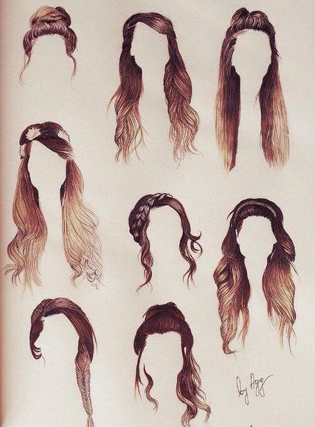 Hair Styles Hairdo Updo Differenthair Zoella Hair Hair Sketch How To Draw Hair