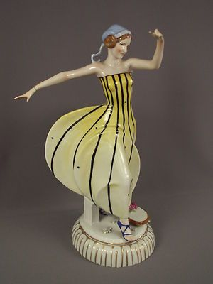 Art Decco Lady Figurine Missing Hand And Base Antiques