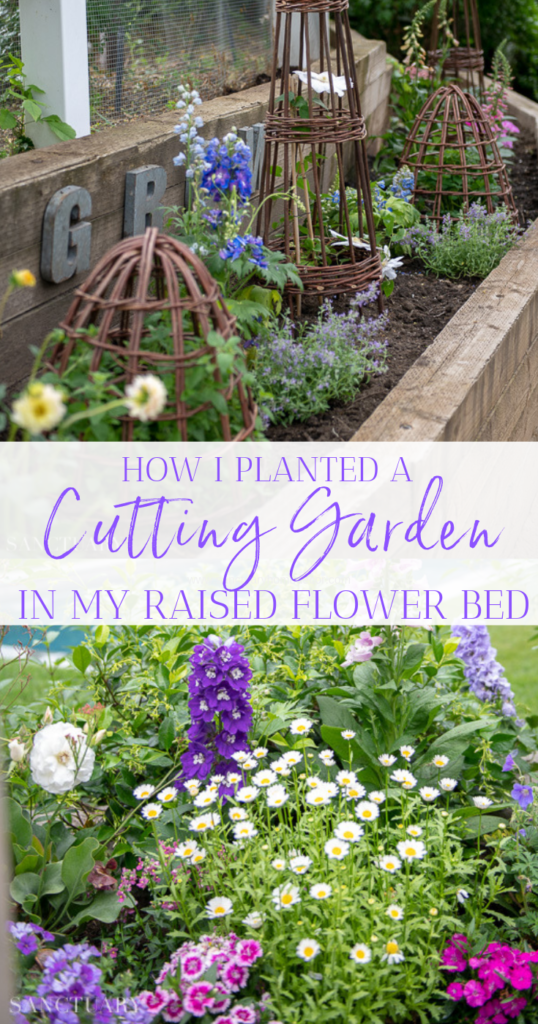 How I Planted A Cutting Garden In My Raised Flower Bed #flowerbeds