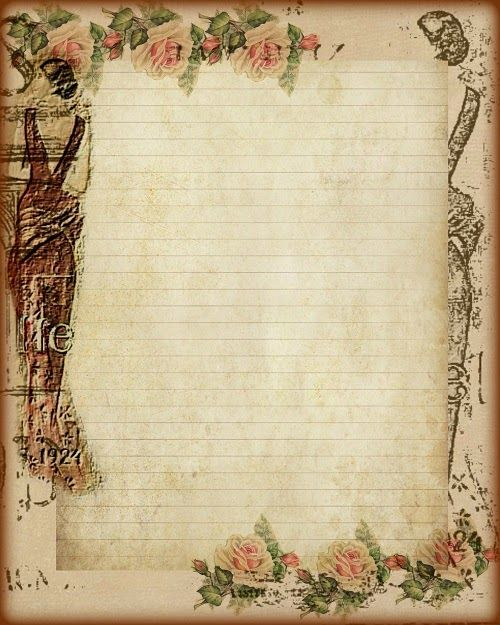 Journal Pages Vintage Stationary Free Printable Stationery Vintage Paper