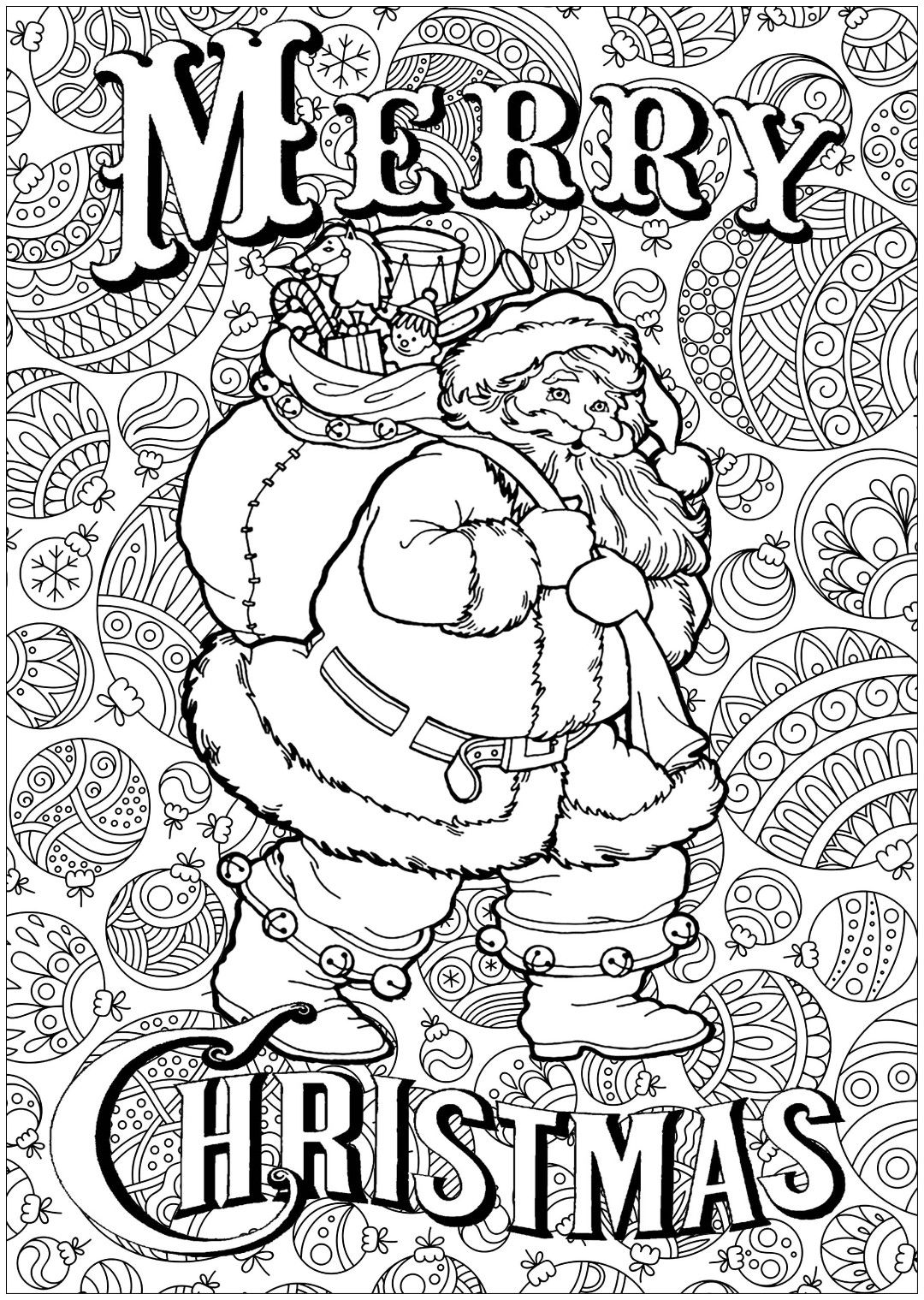 Santa Coloring Pages Santa Coloring Pages Merry Christmas