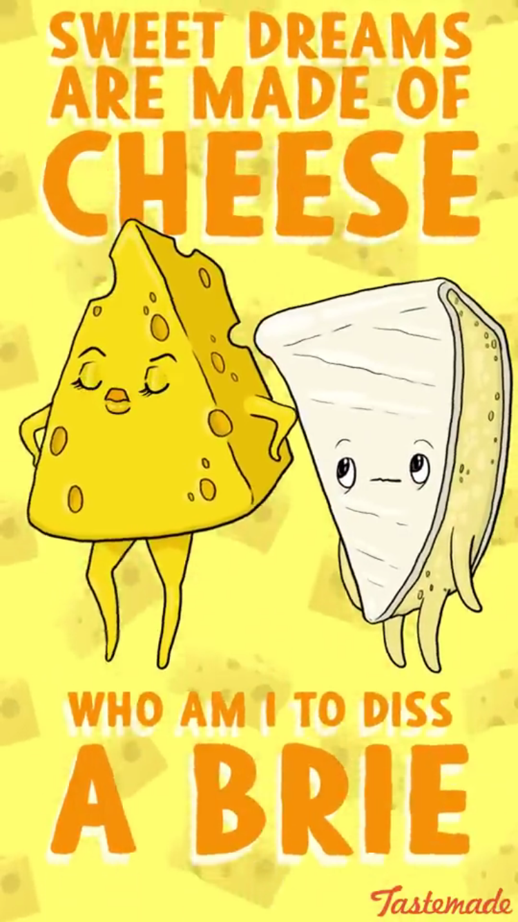Funny Pun Sweet Dreams Are Made Of Cheese. Who Am I To