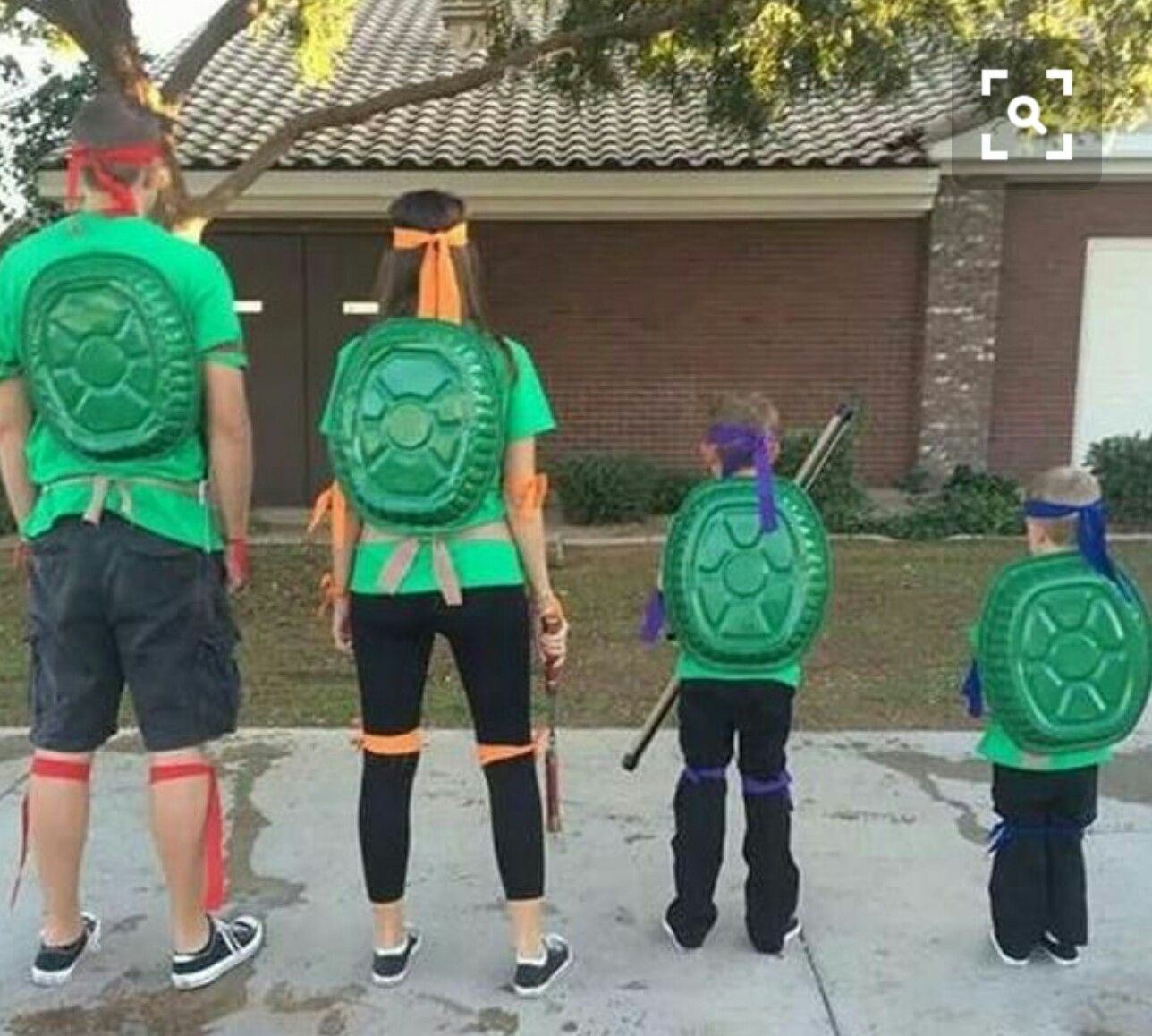Roaster pan painted green for shell birthday party ideas click through a list of 35 diy fun family halloween costumes dont break the bank on halloween use your imagination and inspiration from these pictures solutioingenieria Gallery