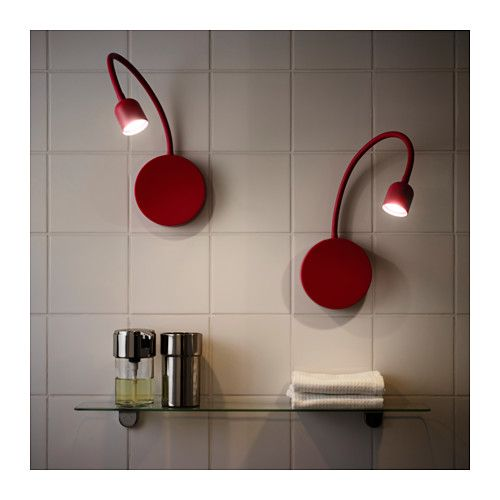 BlÅvik Led Wall Lamp Battery Operated Red Ikea