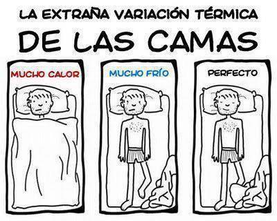 La extraña variación térmica de las camas.