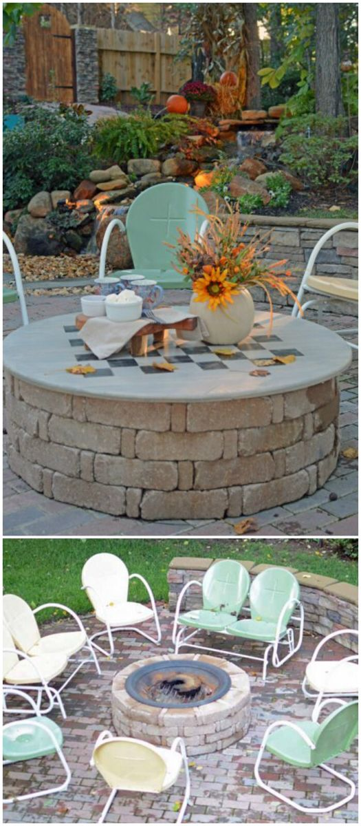 Best DIY Outdoor Fire Pit Ideas #diyfirepit