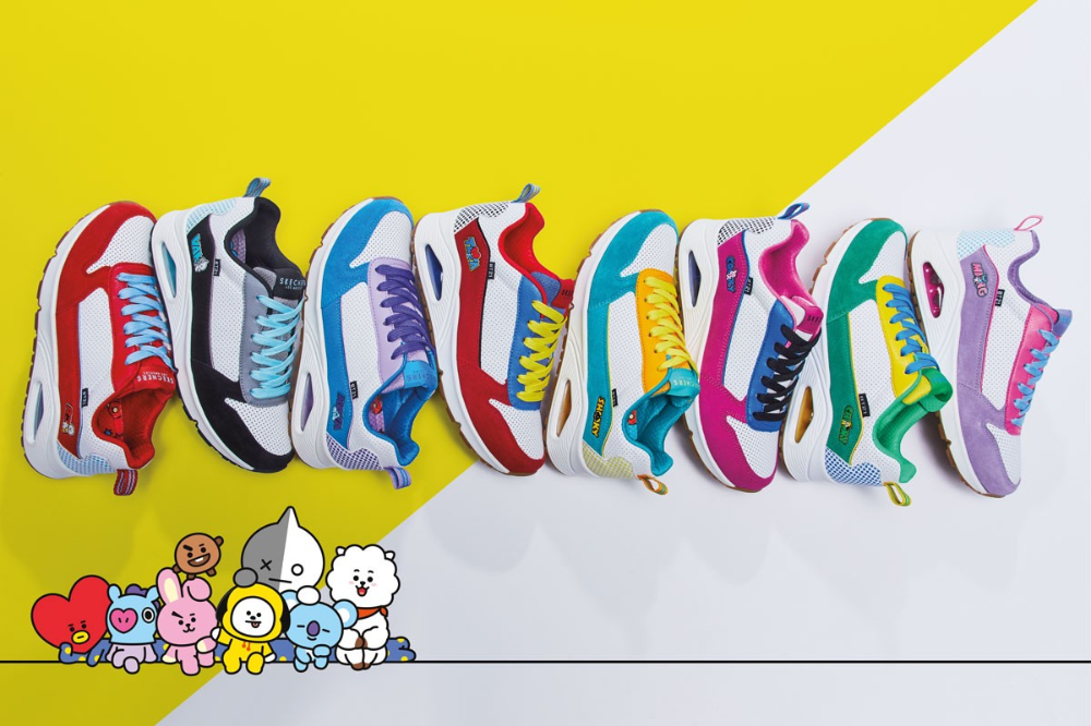 Skechers Drops Limited Release Bt21 Sneaker Collection Skechers
