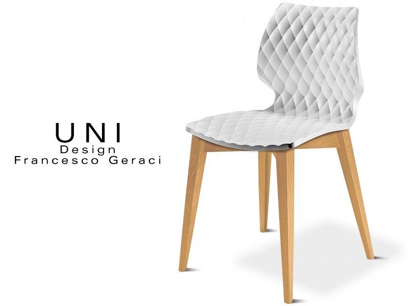 UNI Chaise Design Couleur Pietement Bois Hetre Naturel