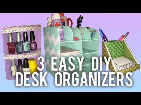 3 Easy Diy Desk Organizer Ideas Desk Organization Diy Desk Organization Easy Diy