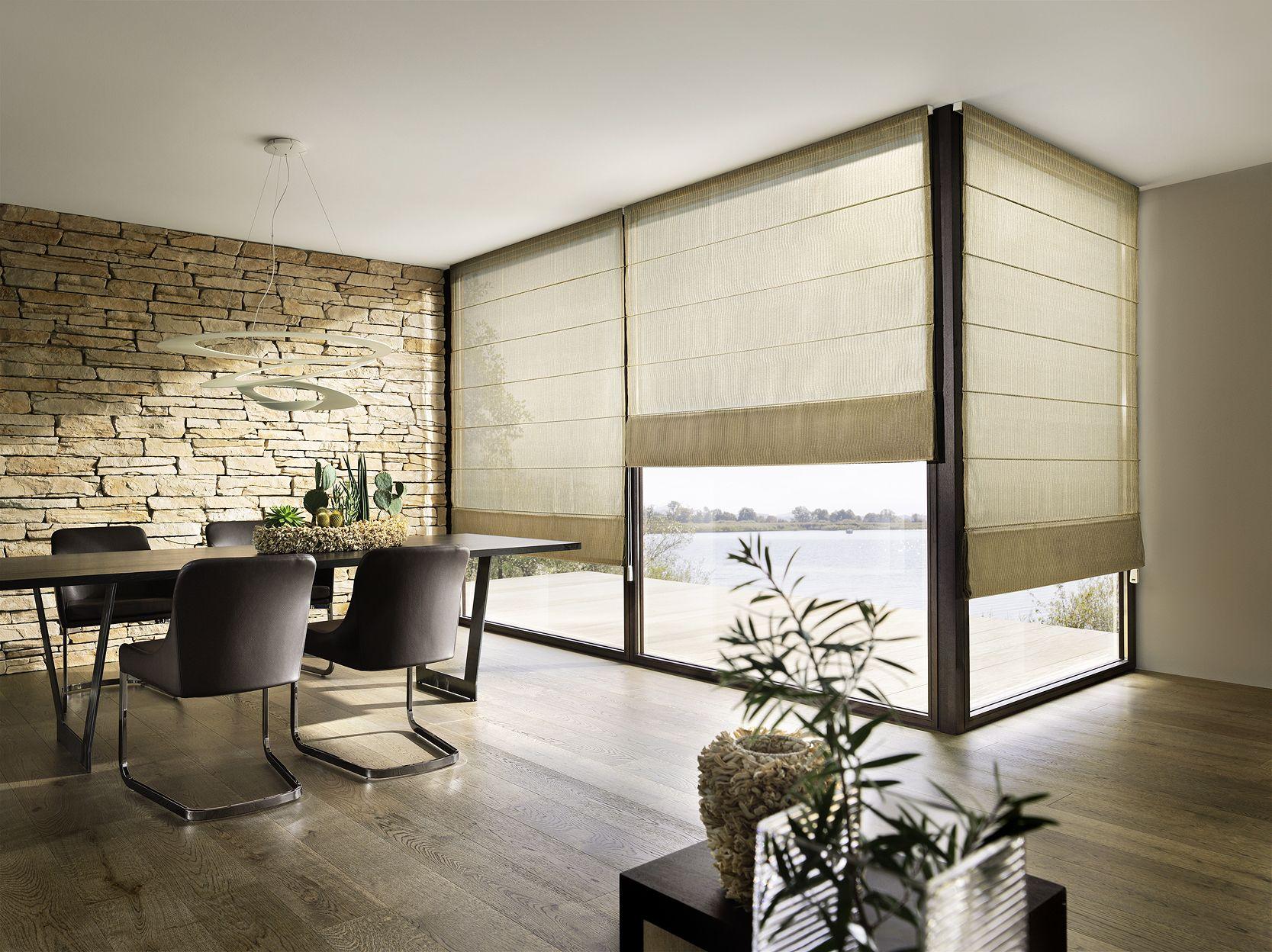 Raffrollo leha esszimmer pinned by schattenspender in 2019 vorh nge - Fenstergestaltung wohnzimmer ...