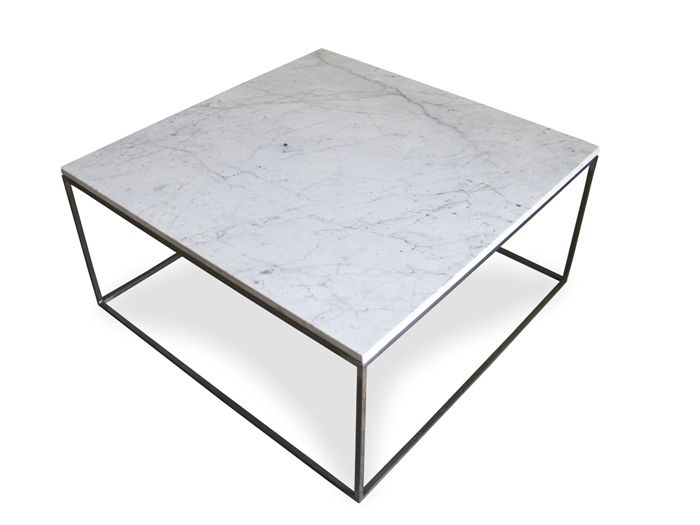 Lovely Marble Top Coffee Table With Metal Base
