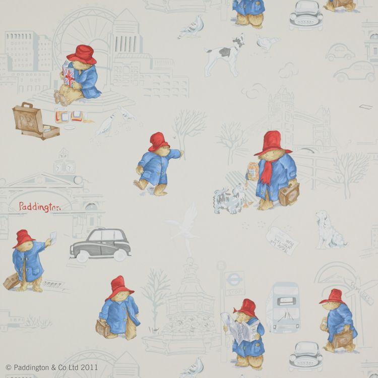Kiddy Wallpaper Paddington Bear In London By Jane Churchill