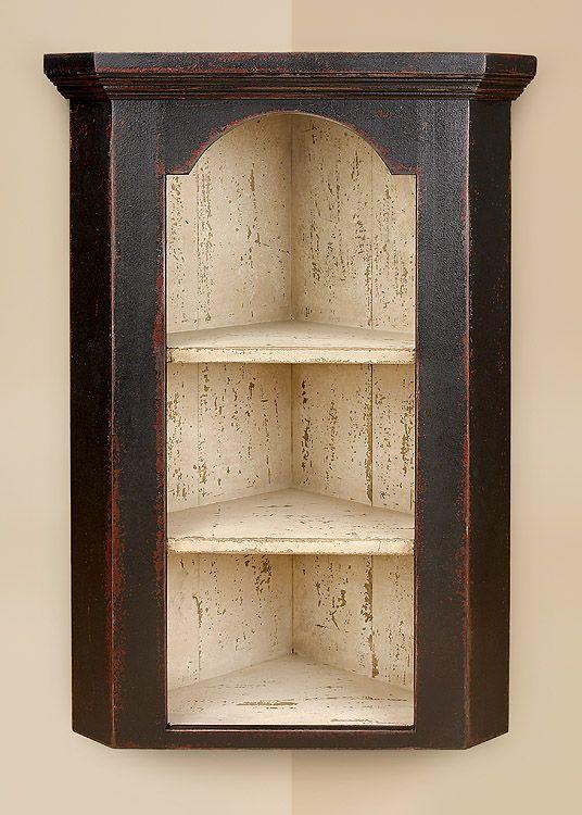 Drake Hanging Corner Cupboard Primitive Shelves Primitive Bathrooms Wall Cupboards