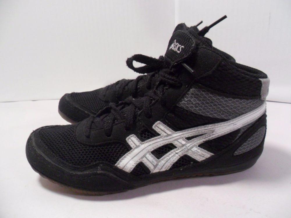 Nice Black Shoes Matflex Boy'sgirl's Mma Gym Asics Wrestling Boxing YxIABSn