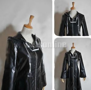 Kingdom Hearts II 2 Cloak Organization XIII 13 Cosplay Costume