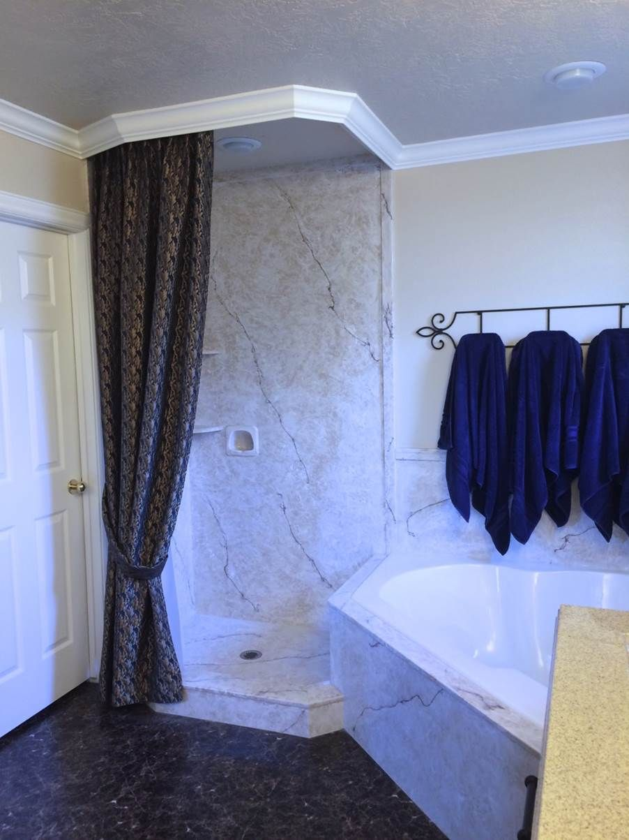 Shower & tub area in Realistic Marble | Showers | Pinterest ...