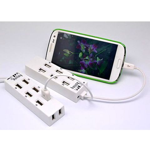 OTG 8 USB Hub with mobile phone charger