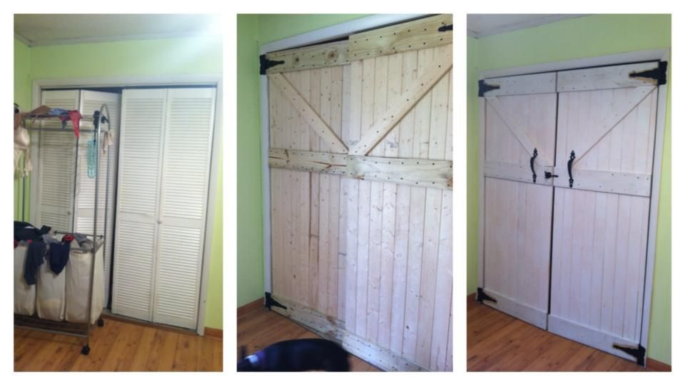 We Built Barn Doors Gates To Replace Our Horrible Bi Fold Doors On The Laundry Nook I Love Them We Will Also Be Installin Barn Door Bifold Doors Laundry Nook
