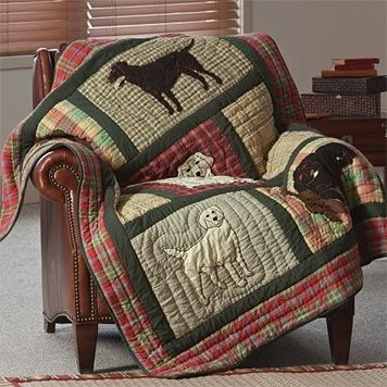 Quilted Labrador Blanket