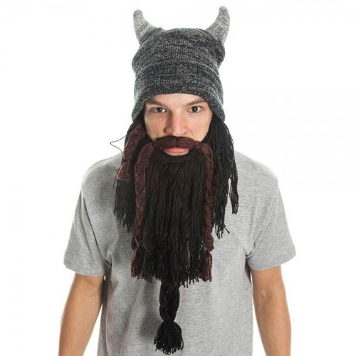 Cheap Knit Viking Hat With Beard
