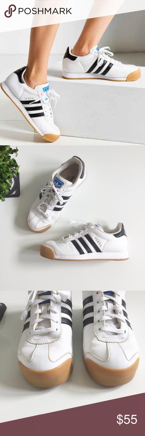 Adidas Samoa perforada suela de goma de Pinterest