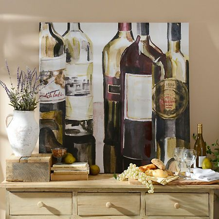 Wine Bottles Canvas Art Print | Kirklands