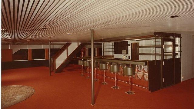 Ilmatar-laivan baari henkii 1960-lukua! Otos vuodelta1964 Copyright: Silja Line.