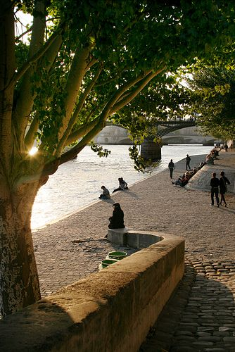 Your Outlook Changes When You Relax on the Serene  Beautiful Banks [Quais] of the   Seine River, Paris