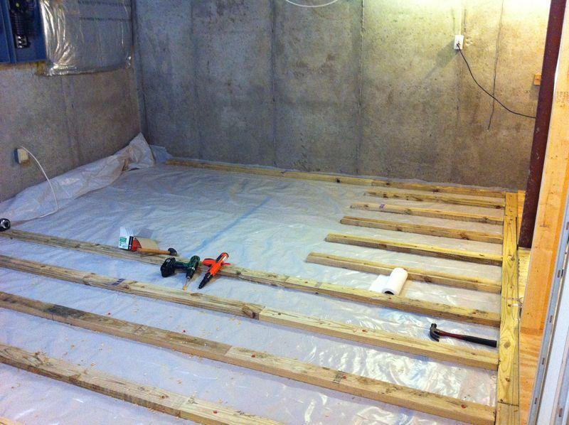 New Basement floor Basementflooringideas Basement floor