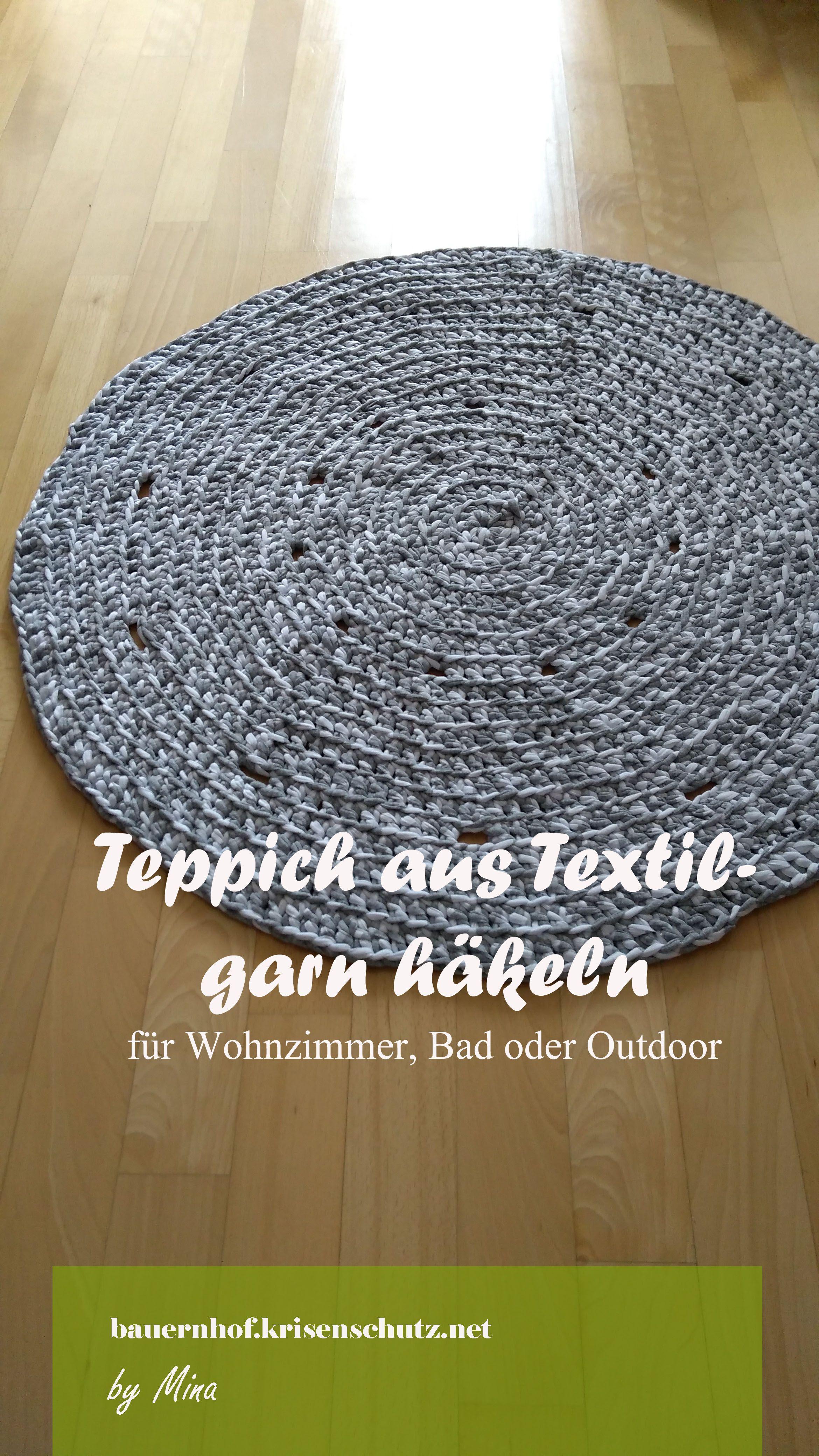 Bevorzugt Teppich / Badvorleger aus Textilgarn selber häkeln | Häkeln OR09