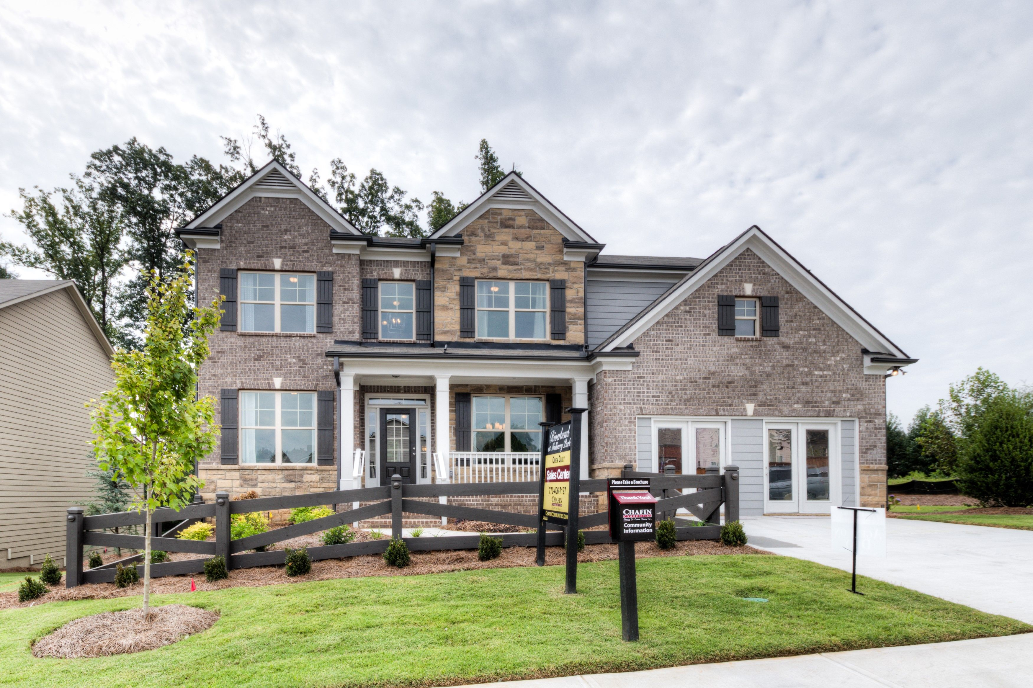 Pin By Chafin Communities On Riverbend At Mulberry Park New Homes Braselton Home Builders Custom Homes House Styles