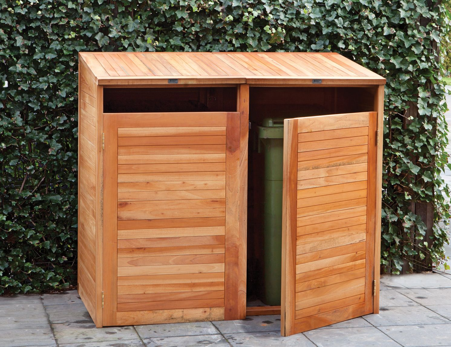 Hardwood Double Wheelie Bin Store Garden Ideas