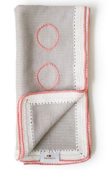 Haiti Babi Signature Hand Knit Pima Cotton Blanket Nordstrom Pima Cotton Baby Blanket Hand Knitting Cotton Blankets