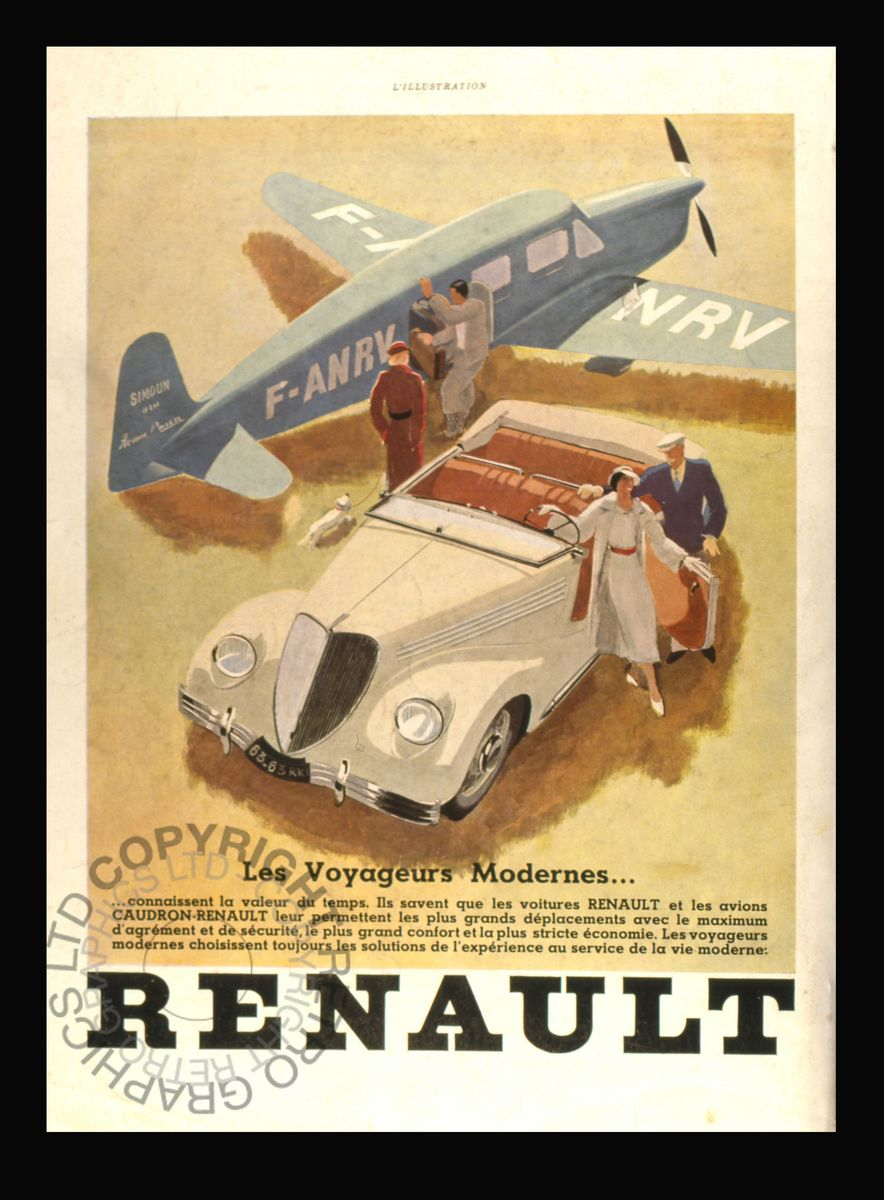 Classic Renault Advertising Poster - Retrograph Wall Art