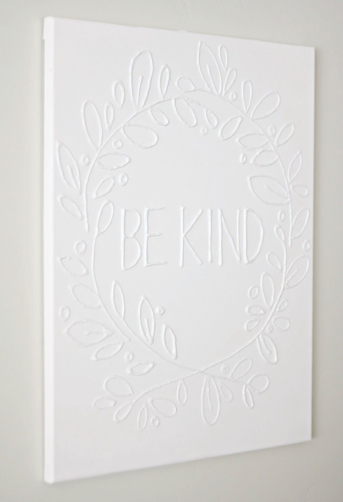 Diy Canvas Wall Art Quotes Make Canvas Wall Art With Glue In Four Easy Steps Diy