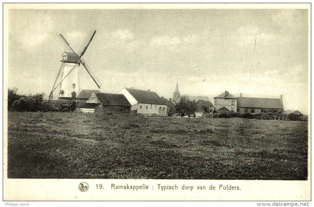 Ramskappelle - Typisch dorp van de Polders - Moulin - THILL - NELS N° 19 DE BELGISCHE LANDSCHAPPEN