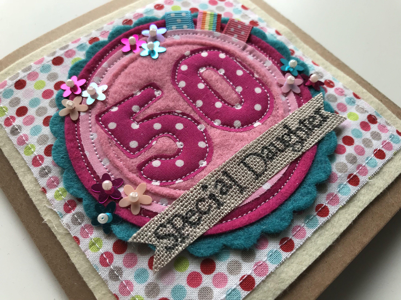 50th birthday card birthday card female greetings card