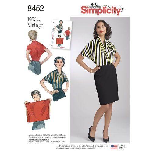 Simplicity Pattern 8452 Misses\' Vintage Knit Blouse | Sewing ...