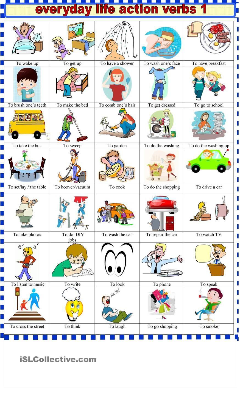 action verbs | AHMAD | Action verbs, English vocabulary ...