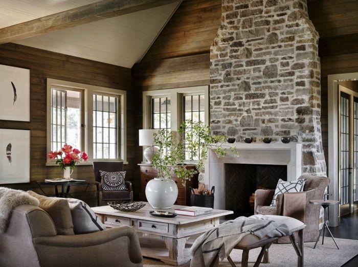Wollen Sie mit Steinwand Wohnzimmer ausstatten, sind Sie hier - wohnzimmer design steinwand