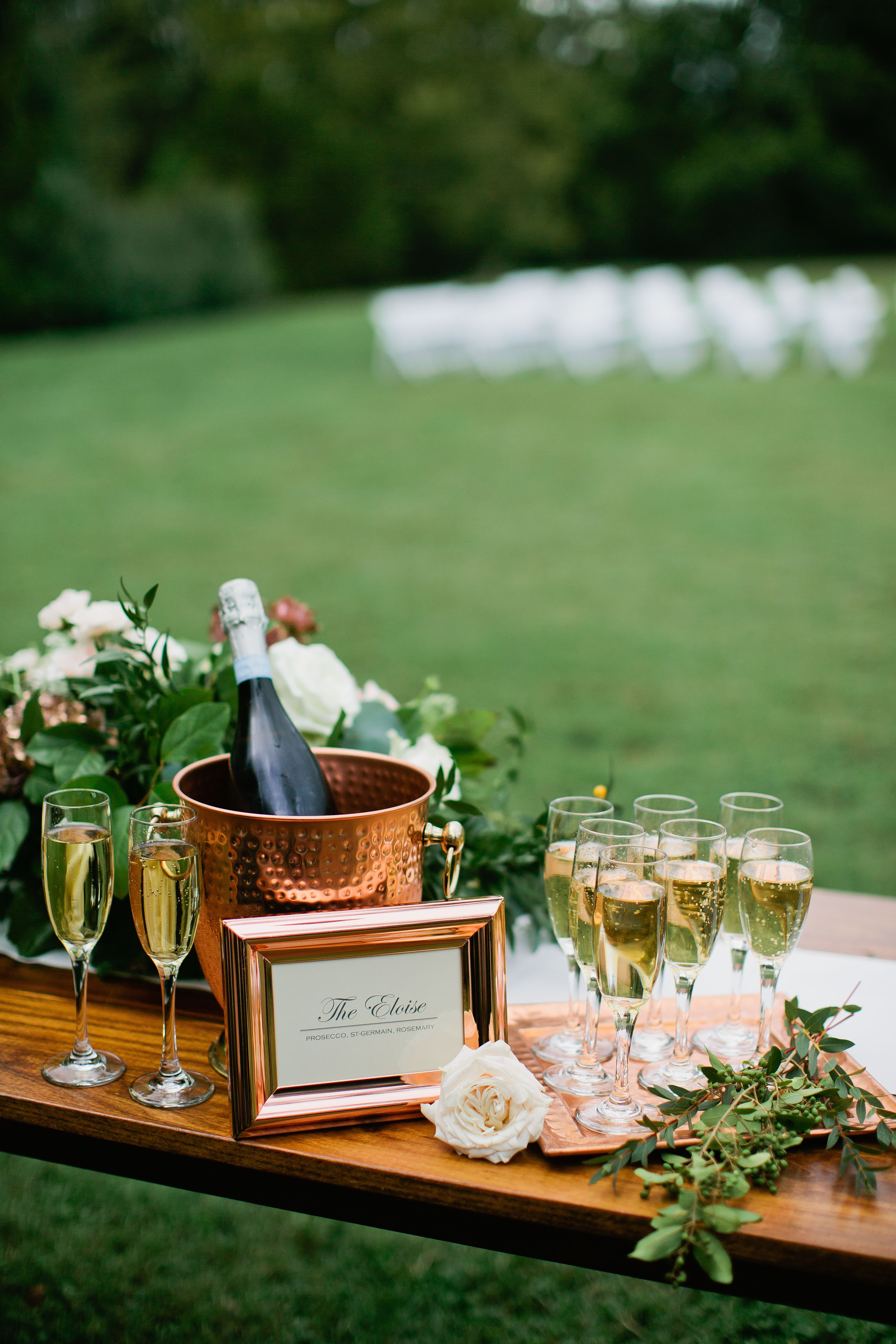Pre-ceremony champagne is always a good idea! # ...