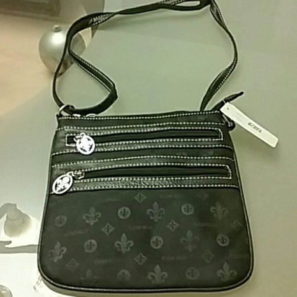 Bag Shoulder bag made with four  Zippers Accessories