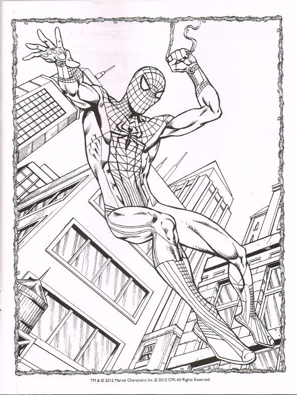 The Amazing Spiderman 2 Coloring Pages | drawing | Pinterest