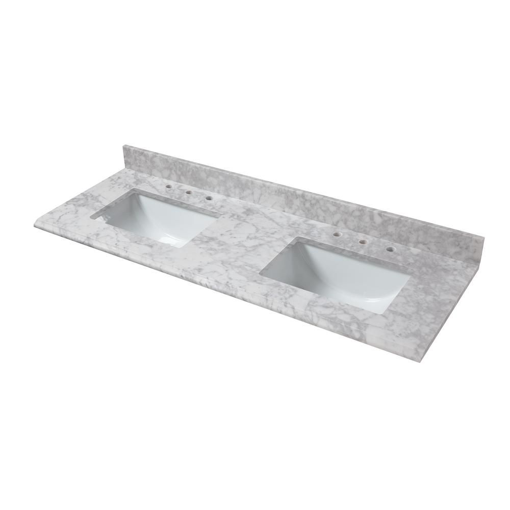 Home Decorators Collection 73 In W X 22 In D Marble Double