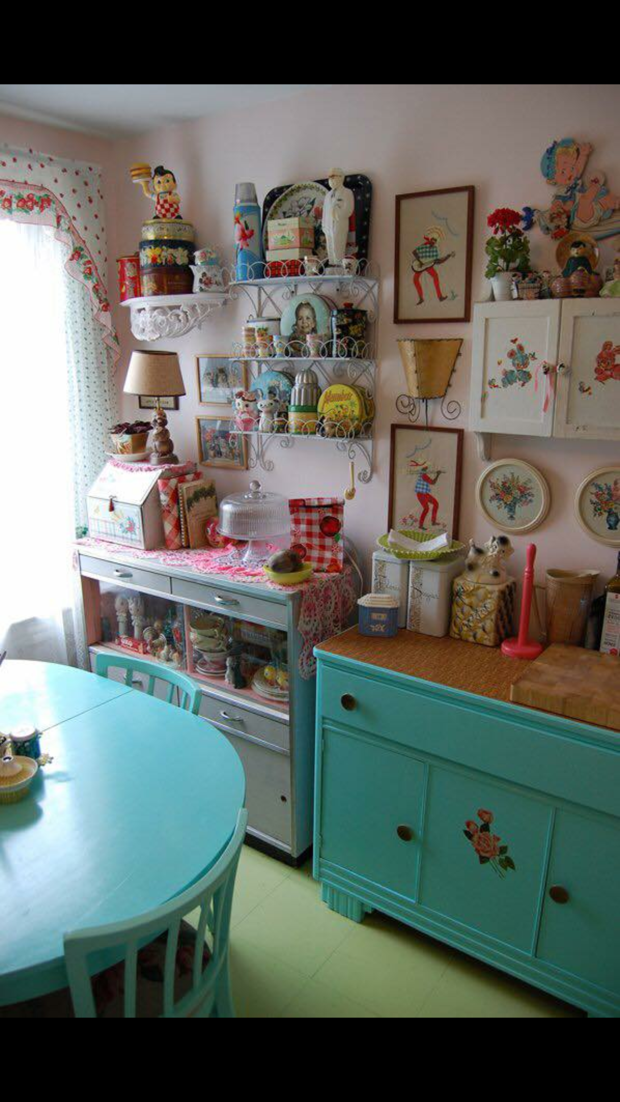 Kitschy kitchen  Granny chic decor, First apartment decorating