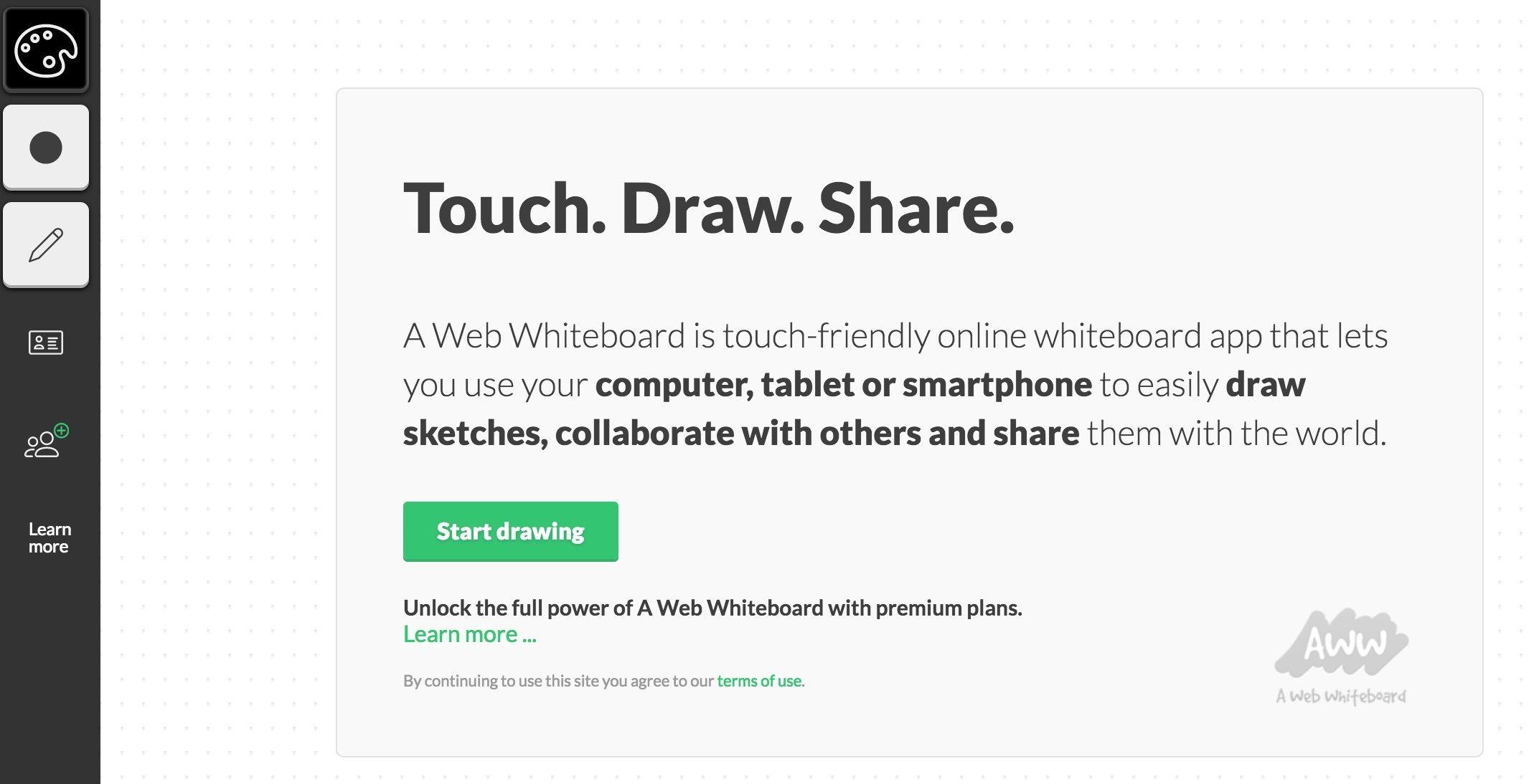 A web whiteboard Whiteboard app, Online whiteboard