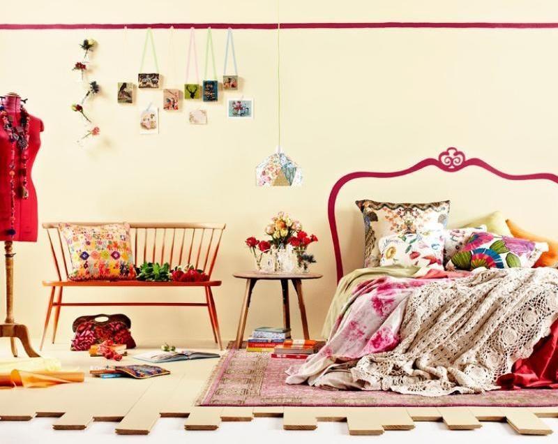 Schlafzimmer Wand in rosa streichen - moderne Idee | Wohnideen fürs ...