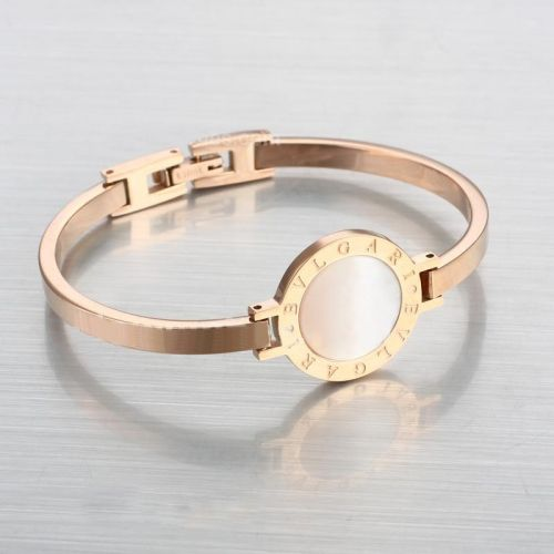 25794963649 Replica Rose Gold Stainless Steel Bvlgari Bracelet