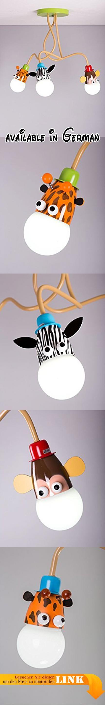 Vividor Deckenleuchte, Für Kinder , Schlafzimmer, Giraffe, Affe, Zebra.  Giraffe,